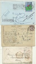 * 1856/1973  3 GB >FRANCE COVERS INCL PPC 1910 WITH QV 1d + LIVERPOOL STAMPLESS