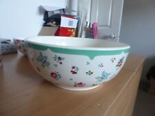 Cath Kidston large green pattern rare serving bowl