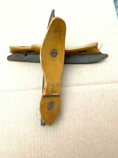 A Pair of Vintage Wooden w/ Steel Blades Ice Skates