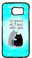 New For Samsung Galaxy Note 5/4/3/2 Cute Cats Love Romantic Quote Case Cover