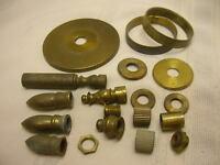 Vintage Lamp Parts Finials Brass Lot