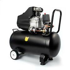 Direct Drive Portable Air Compressor 50L 2.5HP 9.6CFM Low Noise Silent Garage
