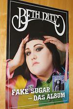 """Beth Ditto Promo Poster 2017 """"Fake Sugar""""  - neu -"""