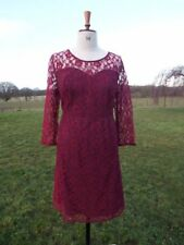 Pretty SO FABULOUS Burgundy Lace Overlay Occasion Dress Plus Size 20 BNWT
