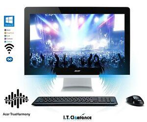 Acer AZ3-715 24-inch AIO Touch i5-7400T 2.4GHZ/16GB DR4 128SSD 1TB /WN10/OFFICE