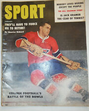 Sport Magazine Maurice Richard & Jack Kramer January 1959 VG COND 021715r2
