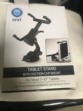"""ONN Universal Tablet Stand For iPad Air Mini Suction Cup Mount 7-10"""" Tablets 360"""