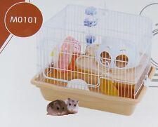gabbia criceto casa cavia topolino bianco roditori vans 2 piani 35,5x26,6x27 cm