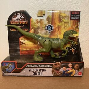 Jurassic World Velociraptor Charlie Savage Strike Action Figure Camp Cretaceous