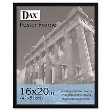 Dax Flat Face Wood Poster Frame Clear Plastic Window 16 x 20 Black Border