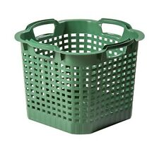 Gartenkorb Stapelkorb Korb Erntekorb Wäschekorb Luftzirkulation Gelocht 25 Liter