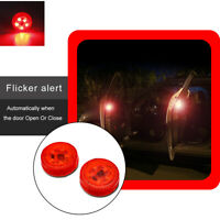 Car Door Warning Light Universal Wireless Safely Red LED 2X  Signal Flash Light