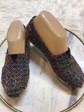 Toms Slip On Womens Shoes Size 6 Black Orange Purple White