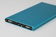 Blau 50000mah Slim Power Bank-externes Ladegerät LED 2 USB für Universal Handy