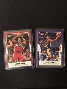 2007-08 Fleer Kobe Bryant #153, Lebron James #12 Lot (2) Kobe MT Rare Beautiful