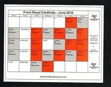 Front Royal Cardinals--2010 Schedule--Valley Baseball League
