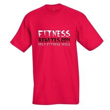 Medium Fitness Rebates Red T-Shirt - Bodybuilding Workout Training Gymwear Hanes