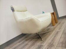 GALAXY LEATHER SWIVEL CHAIR FROST (Furniture Village RRP £805!!)