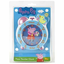 PEPPA PIG TEMPO insegnando Insegnante Sveglia Rosa Blu 100% UFFICIALE