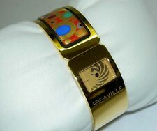Authentic FREY WILLE Gustav Klimt Hoffnung Hope Enamel Watch Bangle Regina NIB