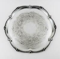 JAMIESON & CARRY ABERDEEN SILVER PLATED TRAY c1955 SCOTTISH