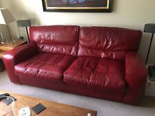 Duresta Panther 2.5 Seater leather sofa.