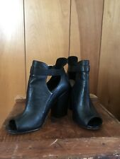 Chinese Laundry Peep Toe Boots With Buckle- Size 6.5
