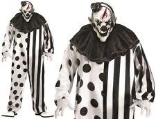 Halloween da Uomo Assassino Costume Pagliaccio & Maschera con Cappello Nuovo P