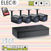 ELEC 4CH 720P 960H HDMI DVR 1MP 1500TVL CCTV Home Security Cameras System 320GB