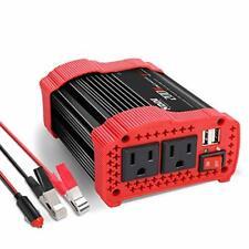 200W Car Power Inverter 12V DC to 110V AC Converter with 3.1 A Dual USB Quick Ca