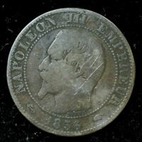 1856 NAPOLEON III FRANCE CENTIMES - Very Good Condition