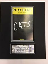 Picture Framing Mat for Playbill and theater ticket Black with Black liner