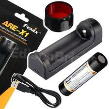Fenix ARE-X1 USB powered Smart Charger w/ARB-L2M 18650 battery / AOFS-R Filter