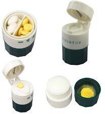 Pill Medicine Crusher Grinder Splitter Tablet Divider Cutter 4 Layer Storage Box