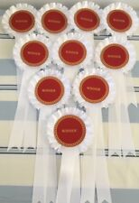 **REDUCED FROM £9.00** CLEARANCE** WINNER ROSETTES FREE POSTAGE