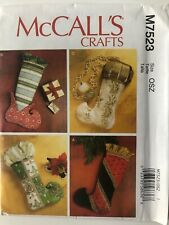 McCall's Sewing Craft Pattern M7523 Stockings Christmas Holiday Uncut