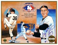 Gaylord Perry autographed signed autograph 1991 HOF Induction Upper Deck sheet