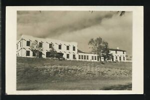 NM Eagle Nest RPPC 1950 VIEW of VILLAGE TOWN BUILDING Colfax County New Mexico
