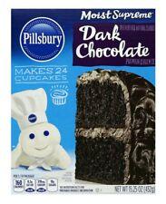 Pillsbury Dark Chocolate Moist Supreme Premium Cake Mix 15.25 oz Box