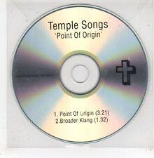 (GE17) Temple Songs, Point of Origin - DJ CD