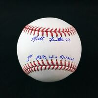 Matt Foster Chicago White Sox Pitcher Rookie Autographed MLB Win Baseball COA