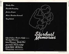 STARDUST MEMORIES Movie POSTER 22x28 Half Sheet Woody Allen Charlotte Rampling