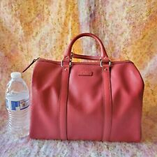 100% authentic Gucci GG Red Imprime Joy Boston Bag coated canvas