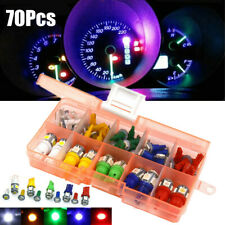 70Pcs T5 T10 LED Panel Dashboard Light Cluster Plug Dash Indicator Lamp Set 12V