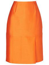 L.K. Bennett womens Hazel knee length pencil Skirt, Saffron / orange UK10