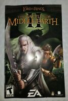 Lord of the Rings: Battle for Middle Earth II (PC)  - Manual Only