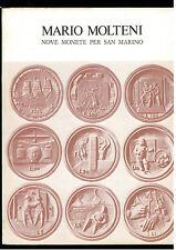 MOLTENI MARIO NOVE MONETE PER SAN MARINO ALL'INSEGNA DEL PESCE D'ORO 1976
