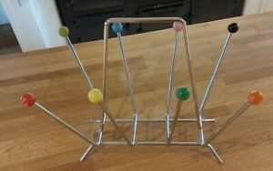Eames Sputnik Chrome Magazine Rack Atomic Balls Original 1960's.