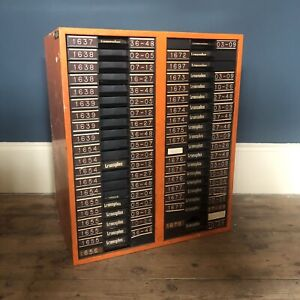 Vintage orange metal cabinet with plastic A4 drawers for Lego? H63cm W52.5cm D34
