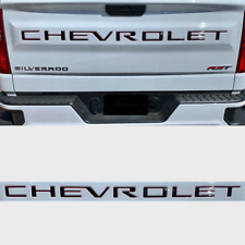 Brown Red 3D Rear Tailgate Chevrolet letters Decal for Silverado 2019 2020